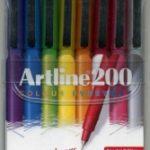 Boligrafo Punta De Felpa 0.4 Artline 200 Estuche 8 Colores