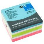 Block de Notas Adhesivas 3″x3″ 4 Colores 450 Hojas / Info-Notes