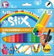 Marcador Escolar Tipo Lego Stix 12 Colores Artline