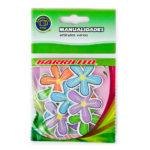 BARRILITO CALCOMANIA DE MADERA FLORES 10 PIEZAS WS005