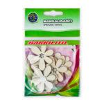 BARRILITO CALCOMANIA DE MADERA FLORES 3 WS014 8 PIEZAS