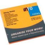 Quita y Pon 3×3 Brillante Naranja Info-Notes