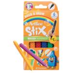 Marcador Escolar Tipo Lego Stix Punta Pincel 6 Colores Artline