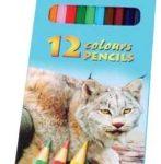 Lapices De Color Largos 12 Col. Zoo Centrum