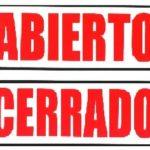 Abierto/ Cerrado