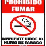 Prohibido Fumar Ambiente Libre de Humo
