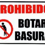 Rótulo – Prohibido Botar Basura