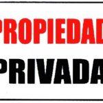 Rótulo – Propiedad Privada