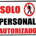 Rótulo – Solo Personal Autorizado