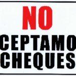 No Aceptamos Cheques