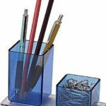 Porta Lápices y Clips Plástico Acrimet