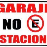 Rótulo – Garaje No Estacione