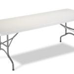 Mesa de plegar de resina de 1,83 x 76 cm