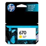 HP CARTUCHO AMARILLO #670 CZ116AL 300 PGS