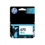 HP CARTUCHO CIAN #670 CZ114AL 300PGS