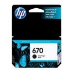 HP CARTUCHO NEGRO #670 CZ113AL 250PGS