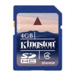KINGSTON TARJETA DE MEMORIA FLASH 4GB SD4/4GB