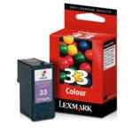 LEXMARK CARTUCHO DE TINTA COLOR MODERADO 190PGS 18C0033 #33