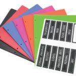 Folder CARTA 2 bolsillos 3 huecos 11 etiquetas + 1 blanca Studmark ST-00413