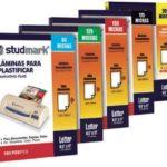 Láminas para Plastificar / 125 micras / 228mm x 292mm (CARTA) Studmark ST-00219