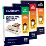 Láminas para Plastificar / 125 micras / 228mm x 345mm (OFICIO) Studmark ST-00224