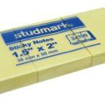 Notas Adhesivas  1.5″x2″ (38x50mm)  / 3 x 100 hojas / Studmark  ST-05401