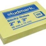 Notas Adhesivas  2″x3″ (50x75mm)  / 100 hojas / Studmark  ST-05402