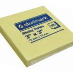 Notas Adhesivas  3″x3″ (75x75mm)  / 100 hojas / Studmark  ST-05403