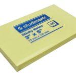 Notas Adhesivas  3″x5″ (75x125mm)  / 100 hojas / Studmark  ST-05405