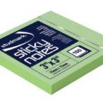 Notas Adhesivas  3″x3″ (75x75mm)  / 100 hojas / Studmark  ST-05441-D