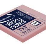 Notas Adhesivas  3″x3″ (75x75mm)  / 100 hojas / Studmark  ST-05441-p