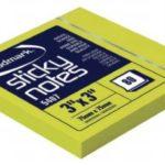 Notas Adhesivas Neón 3″x3″ (75x75mm)  / 80 hojas / Studmark  ST-05407