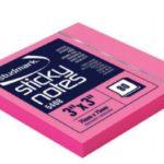Notas Adhesivas Neón 3″x3″ (75x75mm)  / 80 hojas / Studmark  ST-05408