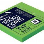 Notas Adhesivas Neón 3″x3″ (75x75mm)  / 80 hojas / Studmark  ST-05409