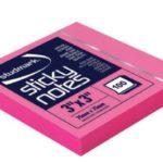 Notas Adhesivas Neón 3″x3″ (75x75mm)  / 100 hojas / Studmark  ST-05442-P
