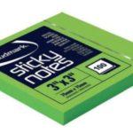 Notas Adhesivas Neón 3″x3″ (75x75mm)  / 100 hojas / Studmark  ST-05442-K
