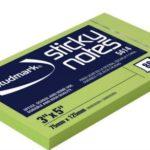Notas Adhesivas Neón 3″x5″ (75x125mm)  / 80 hojas / Studmark  ST-05414