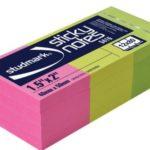 Notas Adhesivas Neón 1.5″x2″ (38x50mm)  / 12 x 80 hojas / Studmark  ST-05416