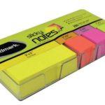 Notas Adhesivas Neón 1.5″x3″ (25x75mm)  / 4 x 200 hojas / Studmark  ST-05451