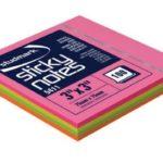 Notas Adhesivas Neón Multicolor 3″x3″ (75x75mm)  / 100 hojas / Studmark  ST-05411