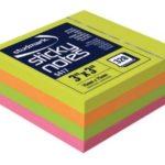 Notas Adhesivas Neón Multicolor 3″x3″ (75x75mm)  / 320 hojas / Studmark  ST-05417