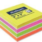 Notas Adhesivas Neón Multicolor 3″x3″ (75x75mm)  / 400 hojas / Studmark  ST-05439