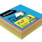 Notas Adhesivas Multicolores 3″x3″ (75x75mm)  / 225 hojas / Studmark  ST-05450