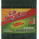 Esponja Fibra Doble Uso / La Negrita / 2 unidades