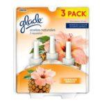Glade Aceites naturales Hawaiian Breeze 3 repuestos 21 ml