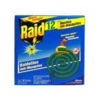 Insecticida Raid Espirales Verdes / Caja 12 Unidades