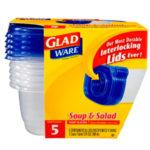 Contenedor Gladware Soup & Salad / Glad / 5 Unidades