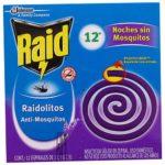 Insecticida Raid Espirales Lavanda / Caja 12 Unidades