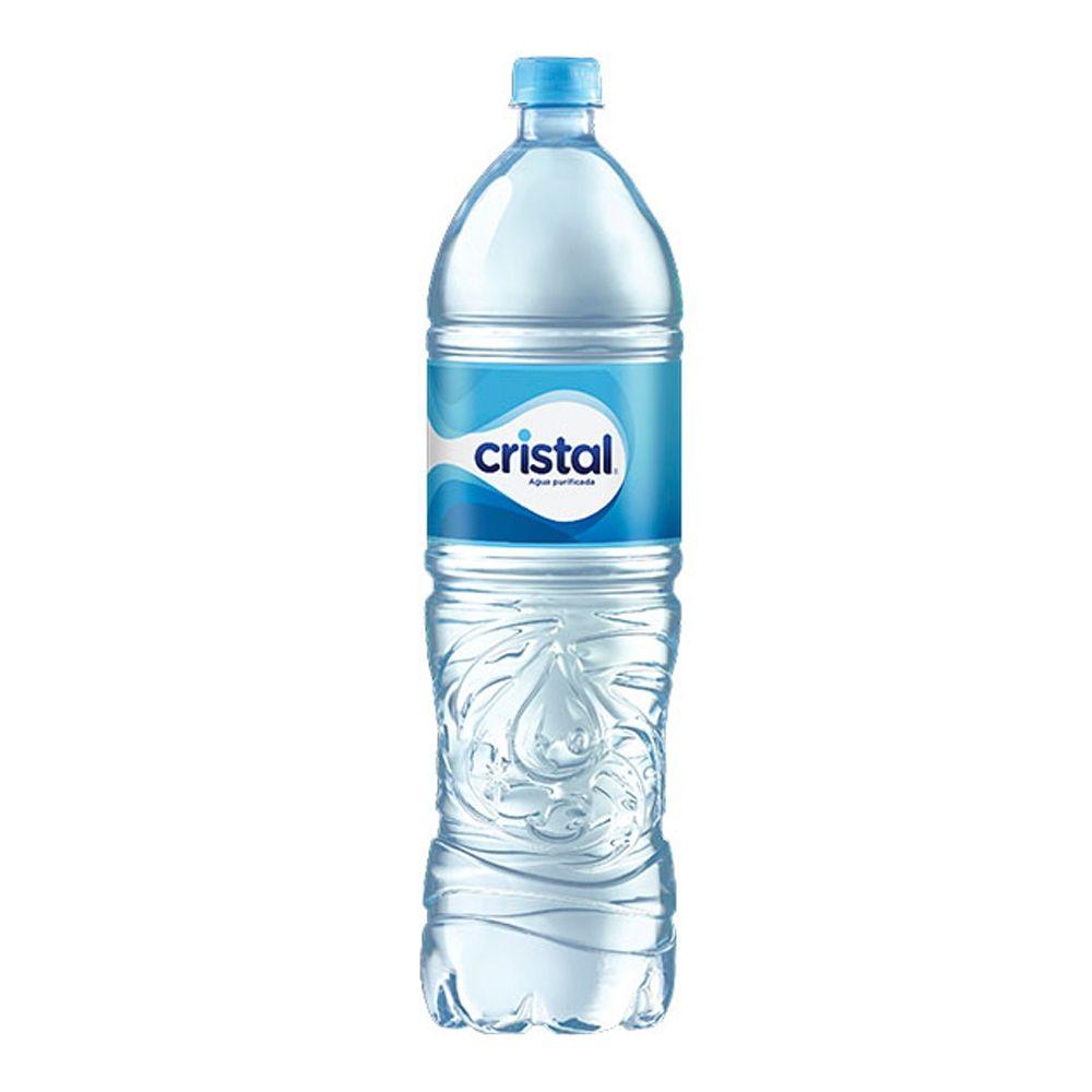 agua cristal 600 ml con tapa distribuidora mundial c r s a