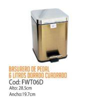 Basurero Metálico de Pedal 6 Litros FWT06D/CSS